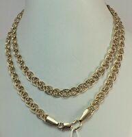 Vintage Original Rose Gold Chain 14 KT 585 , Solid Gold Chain 585 14KT