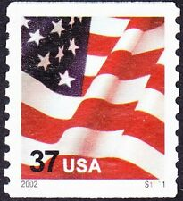 Us - 2002 - 37 Cents United States Flag Coil #3631 Plate # Single Plate # S1111