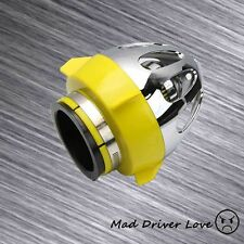 """3"""" BULLET CHROME SHIELD HIGH FLOW SHORT RAM COLD DRY AIR INTAKE FILTER YELLOW"""