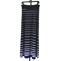Nina & Mee Striped Maxi Skirt sz M Long A-line