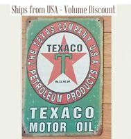 Retro TEXACO Gas Station Sign Chevron Texaco Metal Art Green Texaco Gifts Gift