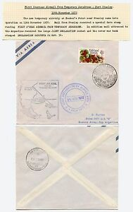 FALKLAND ISLANDS FIRST AIRMAIL 1972 TEMPORARY AERODROME ARGENTINA DECLARATION