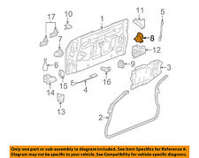GMC GM OEM 04-05 Envoy XUV Tailgate-Lock or Actuator Latch Release 15778433