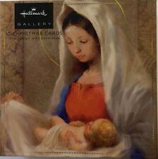 Navideños Hallmark Madonna Niño Galería Tarjeta De Edición Caja De 10 Tarjetas 11484506