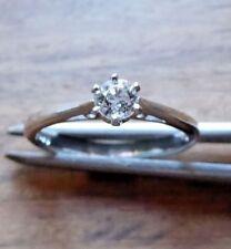 Modern Single diamond set  in 6 claw collet 0.25ct platinum ring