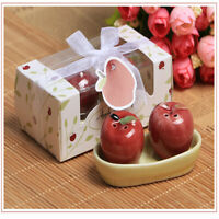 Cute Ceramic Salt & Pepper Pots Condiment For Dining Table Decor Accessory 2Pcs