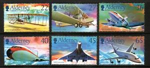 Alderney Stamps 2003 SG A204-209 Centenary of Powered Flight Unmounted Mint MNH