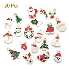 20Pcs/Set Enamel Alloy Mixed Christmas Charms Pendant Jewelry DIY Craft Making~