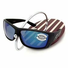 NEW Costa Del Mar CAT CAY Black & 580 Blue Mirror Glass 580G