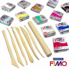 FIMO EFFECT Modelling Clay Professional Set -12 X 57g + 7 PRO MOULDING strumenti