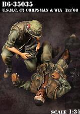 Bravo6 1:35 USMC #7 Doc & WIA Tet Vietnam '68 - 2 Resin Figures #B6-35035