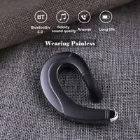 Conduzione ossea Bluetooth 5.0 Ear-Hook Singolo Cuffia Auricolare per Lo Sport