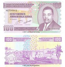 Burundi 100 Francs 2011 P-44b Banknotes UNC