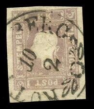 Austria Empire 1858 1k.05 dull purple newspaper stamp 4 margins FINE USED cv£425