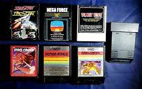 Vintage Atari 2600 Game Cartridge Lot Of 7 Mega Force Tac Scan Dragon fire More