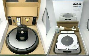 IMPRINT LINK TECHNOLOGY, NEW iRobot Roomba 960 Vacuum + Braava Jet m6 Robot Mop
