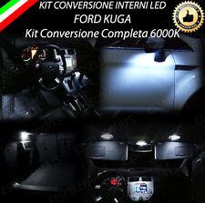 KIT LED INTERNI PER FORD KUGA ANT.+POST.+LUCI DI CORTESIA+BAGAGLIAIO 6000K
