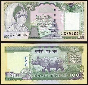 Nepal 100 rupees 2002 King Gyanendra & Rhinocerous P49(1) Signature 15 UNC