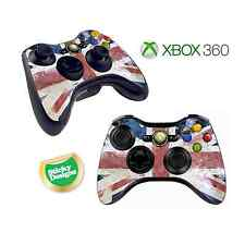 Xbox 360 GB Union Jack Flag Grunge Style Game Pad/Controller Skins/Stickers x 2