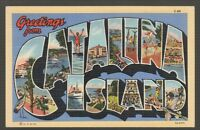 [56885] 1947 LARGE LETTER POSTCARD GREETINGS from CATALINA ISLAND, CALIFORNIA