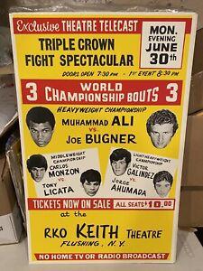 1975 MUHAMMAD ALI VS JOE BUGNER ORIGINAL BOXING POSTER