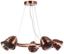 Vintage Retro Industrial Style Copper  5 Light Large Ceiling Pendant