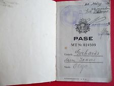 Latvia/Latvian passport, issued 1927 to O. Gerhards/Ikkers