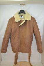 Topman Shearling Jacket Moto with Belt sz Small