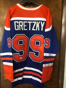 Wayne Gretzky Autographed Signed Edmonton Oilers Jersey GA COA