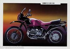 PROSPEKT BMW R 80 GS MOTO 1992 prospetto MOTO 111 201 410/xm-2 brochure