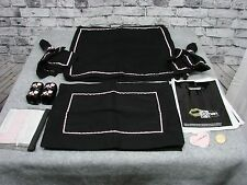 Mary Kay Consultant Place Mat Napkin Ring Display Set Black Pink Linen Director