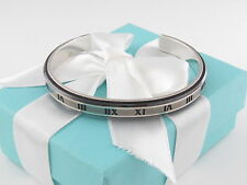 Tiffany & Co Silver Titanium Atlas Midnight Cuff Box Included