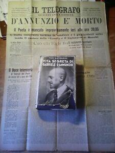 LIBRO DEL 1938 : ' VITA SEGRETA DI GABRIELE D'ANNUNZIO ' + OMAGGIO !!!!!!!!!!!!