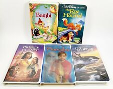Lot of 5 VHS Tapes Disney Fox Hound Bambi Prince Egypt Free Willy 2 Pinocchio
