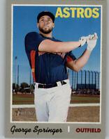 2019 Topps Heritage Short-Print Card SP #407 GEORGE SPRINGER Astros