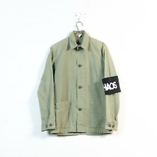 UNUSED light green cotton distressed removable arm band work jacket size 2 XS