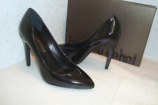 Luxury Rebel Womens NWB Victoria Black Patent Heels Shoes EUR 38 US 7.5 M NEW