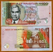 Mauritius, 100 rupees, 2012, P-56-New date and signature combo, UNC