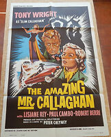 The Amazing Mr. Callaghan MoviePoster, Original, Folded, One Sheet, 1960, U.S.A.