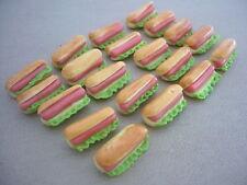 20 Hot Dog Dollhouse Miniatures Fast Food Supply Deco Bakery