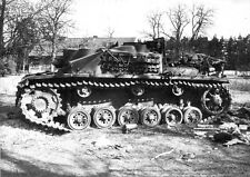 B&W Photo German Stug III  Destroyed Berlin  WWII WW2 Germany Wehrmacht