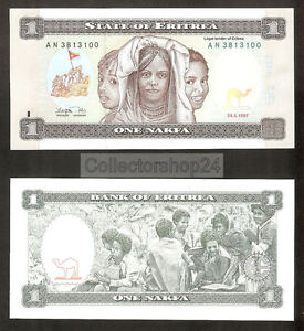 Eritrea 1 Nakfa 1997 Unc pn 1