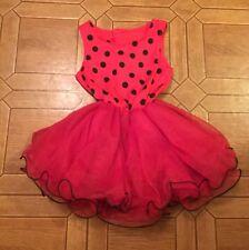 Unbranded Homemade Girl's Sleeveless Dress Ladybug Tutu Style