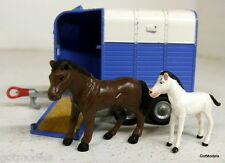 Corgi Toys Vintage 112 Beaufort Double Rice Horse box with two pony's in blue