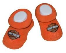 Harley-Davidson Baby Boys' Boxed Booties, Bar & Shield Logo, Orange S9LUL22HD