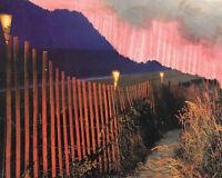 Landscape Collage Artwork Home Decor Art Instant 5x4 Pink Road Nature