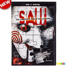 SAW : 1-7 The Complete Movie Collection DVD + Digital 7 Films Unrated 4-Disc NEW