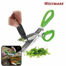 "New Westmark 5"" Blade Stainless Steel Herb Scissors with Cleaning Comb (Green)"