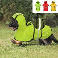 Dog Rain Coat Waterproof Pet Outdoor Jacket Reflective Puppy Hoodie Yellow S-2XL