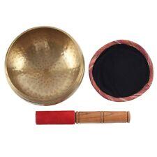 More details for something different 15cm beaten brass singing bowl